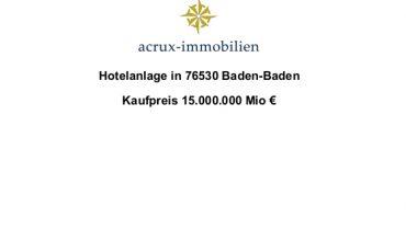 Hotelprojekt 76530 Baden-Baden